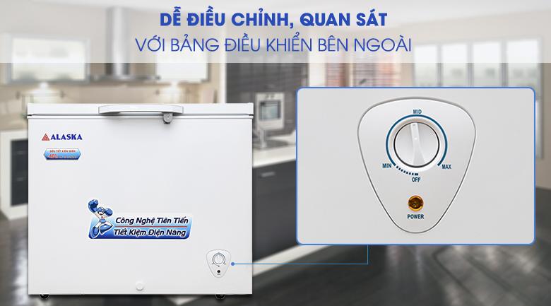 Nút điều chỉnh nhiệt độ bên ngoài - Tủ đông Alaska 300 lít BD-300