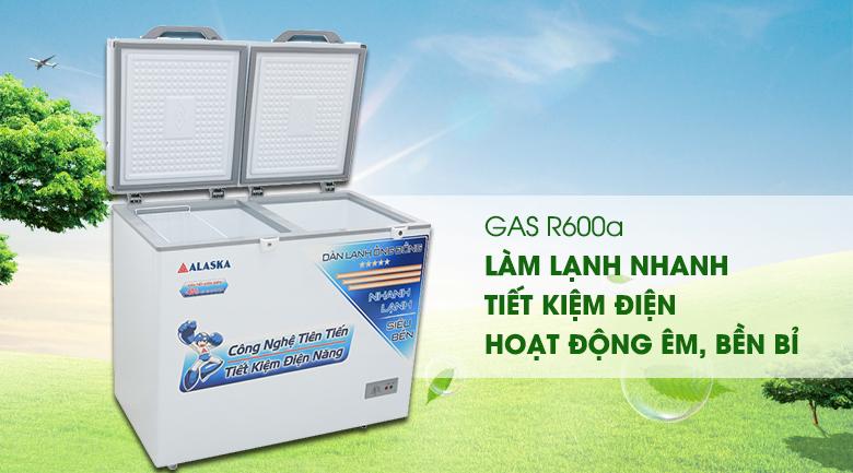 Gas R600a - Tủ đông Alaska 250 lít BCD-3068C