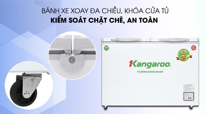 Tủ đông Kangaroo 252 lít KG 400NC2 - Kiểm soát chặt chẽ, an toàn với tiện ích khóa cửa tủ