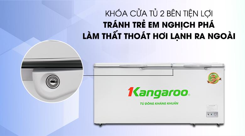 Tủ đông Kangaroo 490 lít KG 809C1 - Tránh nghịch phá của trẻ nhờ trang bị khóa cửa tủ