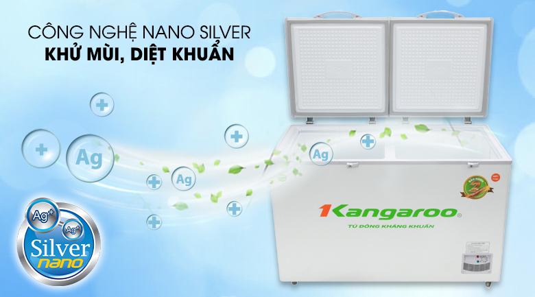 Tủ đông Kangaroo 372 lít KG 566C2 - Diệt khuẩn, loại bỏ mùi hôi với công nghệ Nano silver