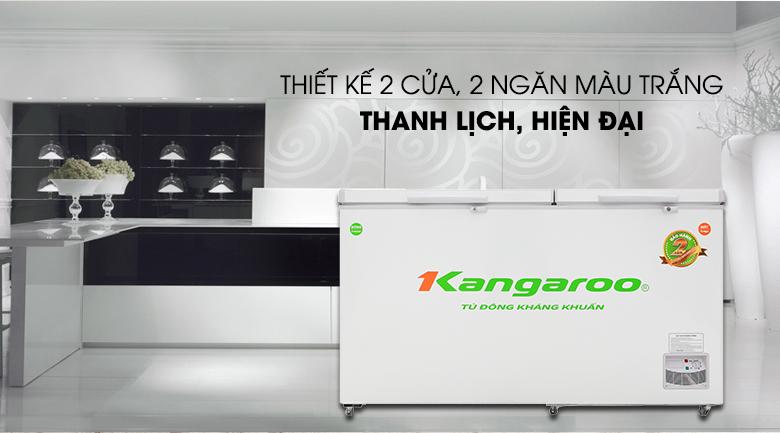 Tủ đông Kangaroo 471 lít KG 688C2-Tiện lợi, lưu trữ dễ dàng với tủ đông nắp dỡ 2 cửa