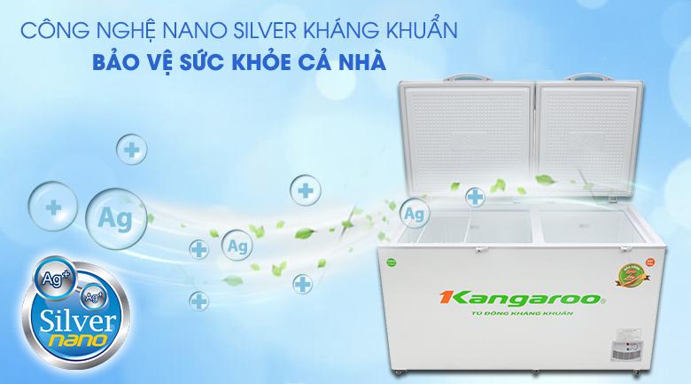 Tủ đông Kangaroo 471 lít KG 688C2 - Khử mùi, diệt khuẩn tối ưu nhờ công nghệ Nano Silver kháng khuẩn
