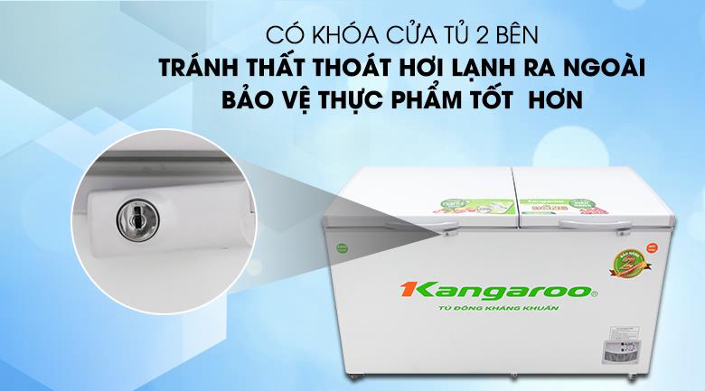 Tủ đông Kangaroo 471 lít KG 688C2 - Kiểm soát thực phẩm với tiện ích khóa cửa tủ