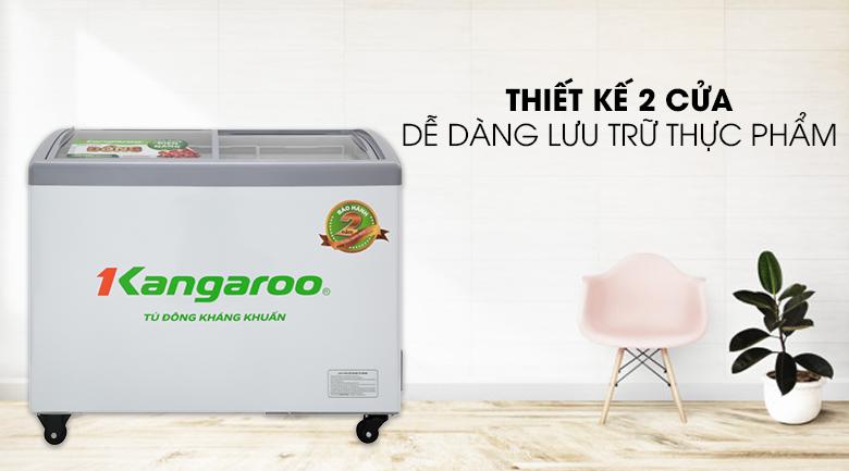 Tủ đông Kangaroo 248 lít KG308C1 - Thiết kế 2 cửa, dễ dàng lưu trữ thực phẩm