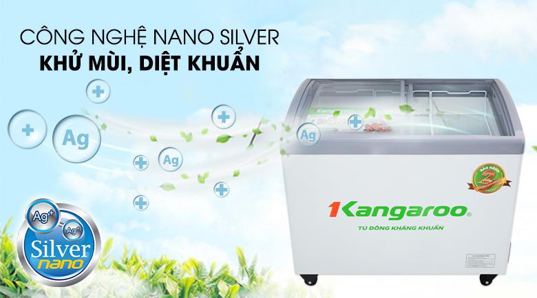 Tủ đông Kangaroo 248 lít KG308C1 - Diệt khuẩn, khử mùi hiệu quả cùng công nghệ Nano silver kháng khuẩn