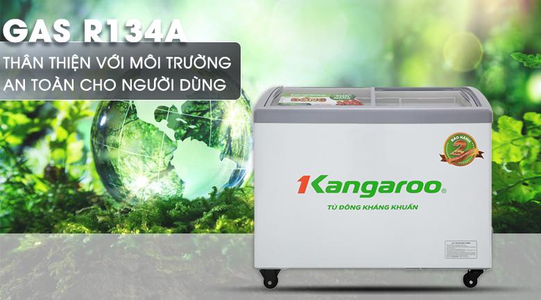 Tủ đông Kangaroo 248 lít KG308C1 - An toàn khi sử dụng gas R134a thân thiện với môi trường