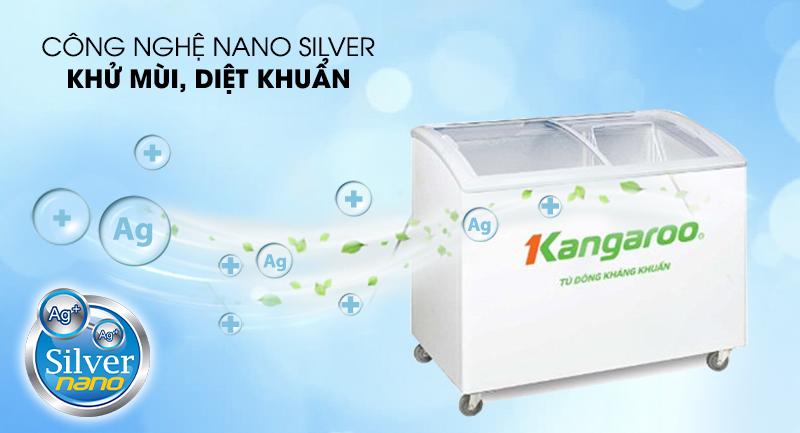 Tủ đông Kangaroo 248 lít KG308C1-Diệt khuẩn, khử mùi hiệu quả cùng công nghệ Nano silver kháng khuẩn