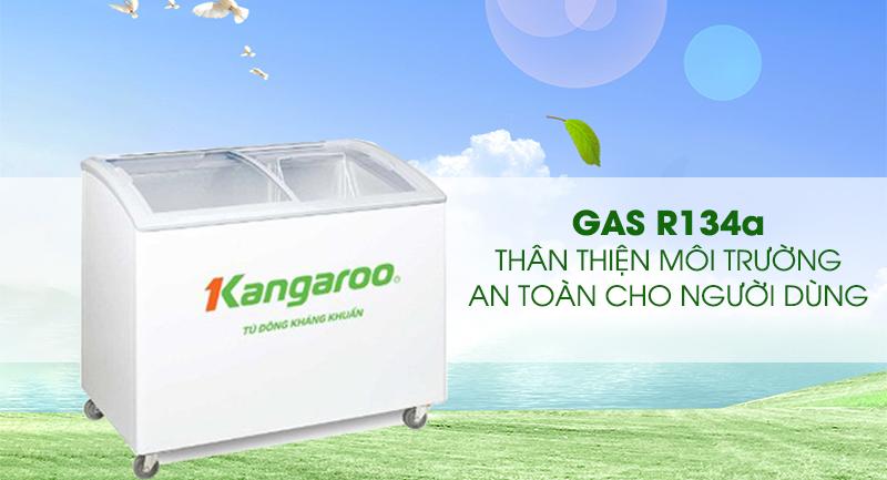 Tủ đông Kangaroo 248 lít KG308C1-An toàn khi sử dụng gas R134a thân thiện với môi trường