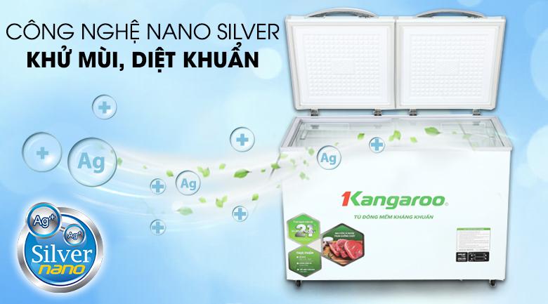 Tủ đông mềm Kangaroo 212 lít KG 328DM2 - Công nghệ Nano Bạc