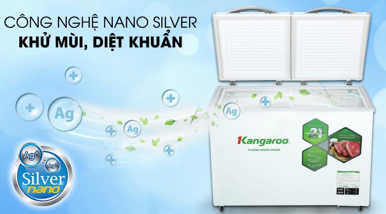 Tủ đông mềm Kangaroo 252 lít KG 400DM2 - Nano Bạc diệt khuẩn, khử mùi