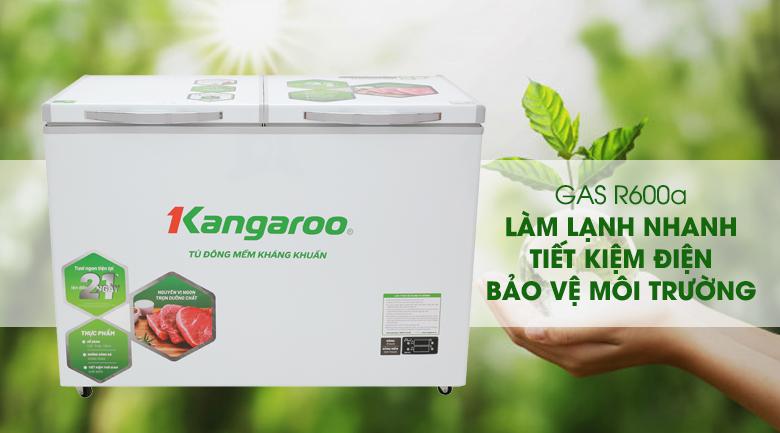 Sử dụng gas R600a làm lạnh nhanh - Tủ đông mềm Kangaroo 252 lít KG 408S2