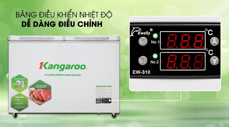 Dễ dàng kiểm soát nhiệt độ - Tủ đông mềm Kangaroo 252 lít KG 408S2