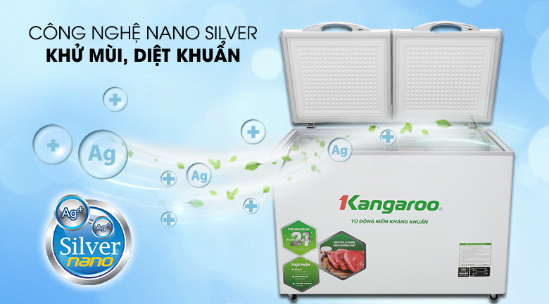 Kháng khuẩn, khử mùi - Tủ đông mềm Kangaroo 252 lít KG 408S2