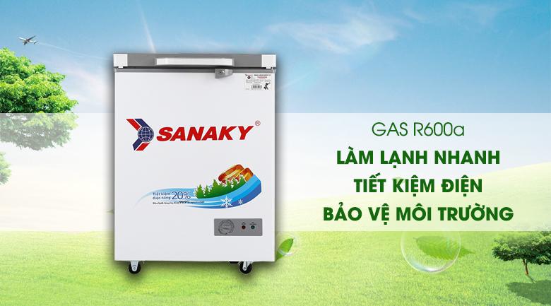 Tủ đông Sanaky 100 lít VH-1599HYK - Gas R600a