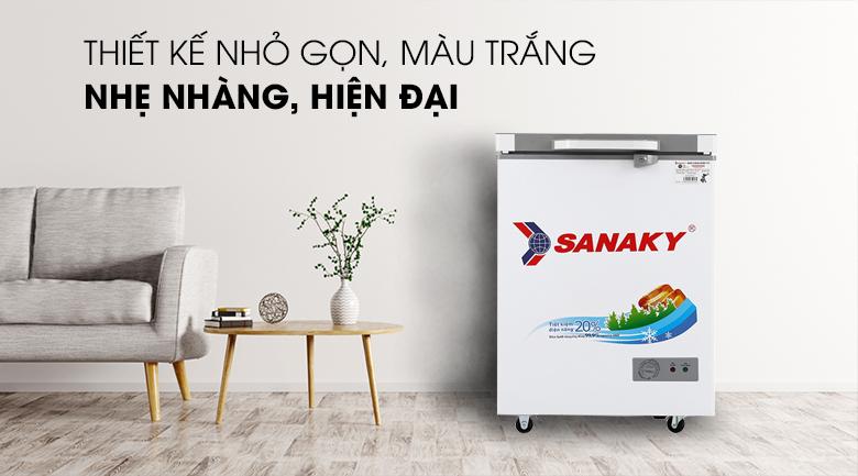 Tủ đông Sanaky 100 lít VH-1599HYK - Thiết kế