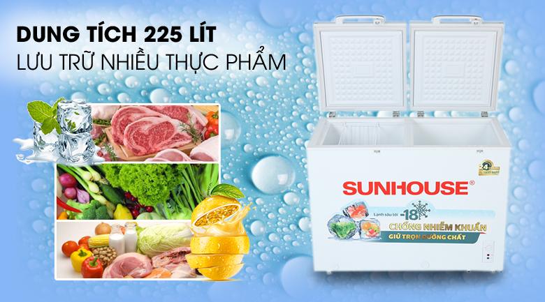 Tủ đông Sunhouse 225 lít SHR-F2272W2 - Dung tích