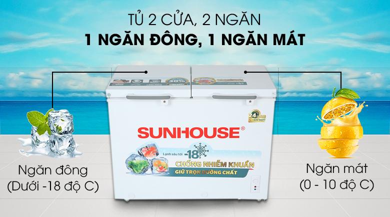 Tủ đông Sunhouse 225 lít SHR-F2272W2 - Số ngăn