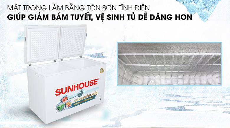 Tủ đông Sunhouse 300 lít SHR-F2412W2 - Sơn tĩnh điện bên mặt trong của tủ