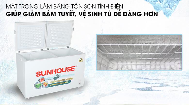 Tủ đông Sunhouse 330 lít SHR-F2472W2 - Sơn tĩnh điện mặt trong