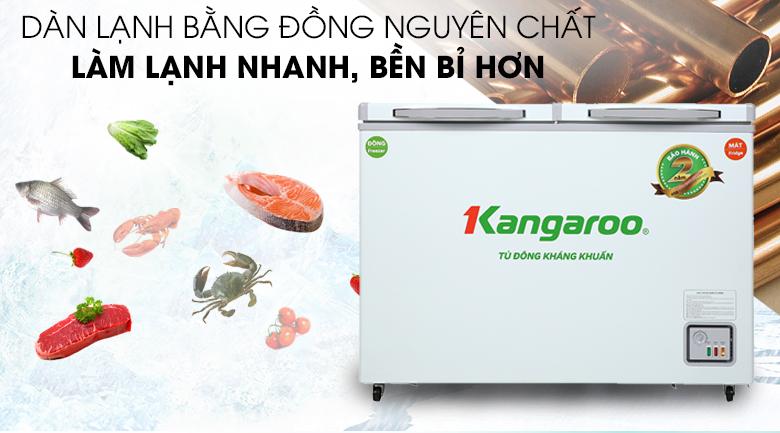 Tủ đông Kangaroo 212 lít KG 328NC2 - Dàn lạnh bằng đồng nguyên chất