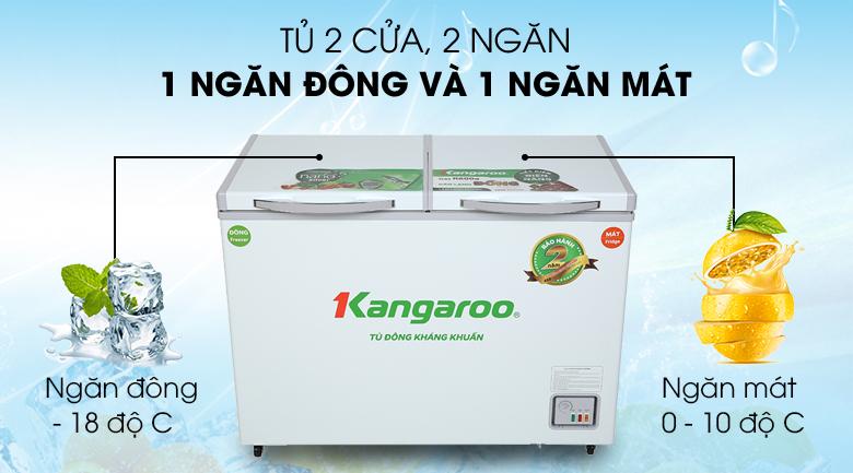 Tủ đông Kangaroo 212 lít KG 328NC2 - Số ngăn