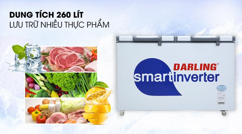 Dung tích - Tủ đông Darling Inverter 260 lít DMF-3699 WSI-4