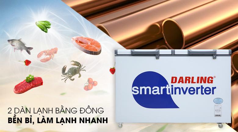 2 dàn lạnh - Tủ đông Darling Inverter 260 lít DMF-3699 WSI-4