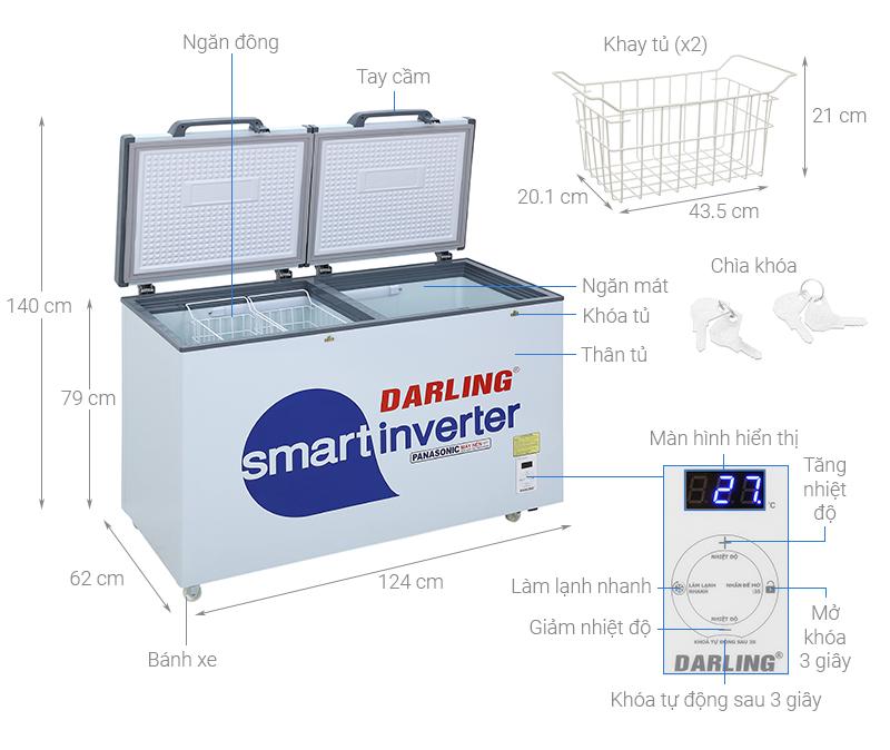 Thông số kỹ thuật Tủ đông Darling  Inverter 270 lít DMF-3799 ASI