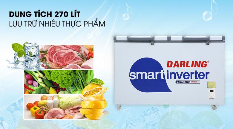 Tủ đông Darling Inverter 270 lít DMF-3799 ASI - Dung tích