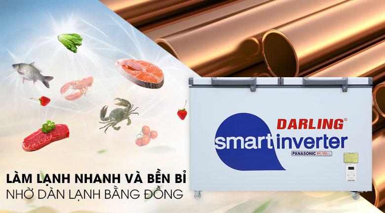Tủ đông Darling Inverter 270 lít DMF-3799 ASI - Dàn lạnh bằng đồng