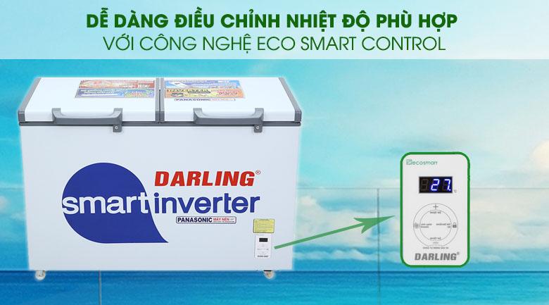 Tủ đông Darling Inverter 270 lít DMF-3799 ASI - Công nghệ Eco Smart Control