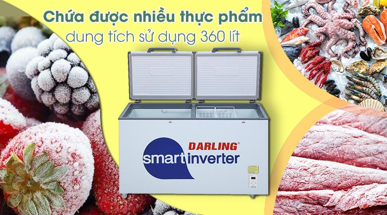 Tủ đông Darling Inverter 360 lít DMF-4799 ASI - Dung tích