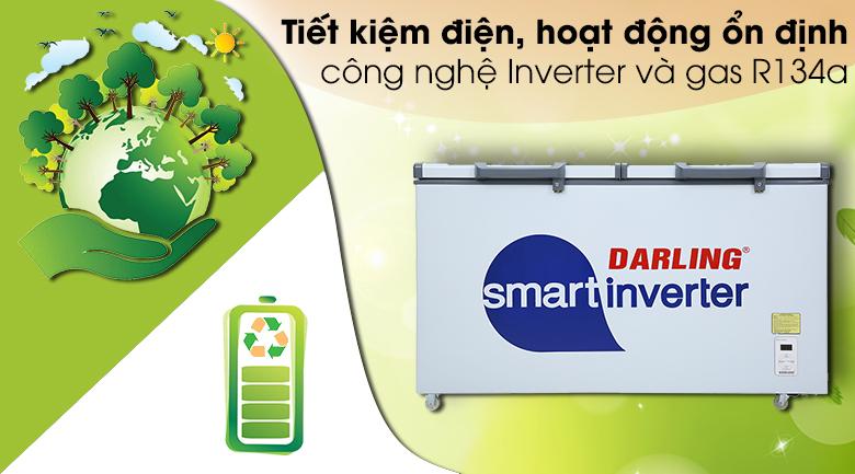 Tủ đông Darling Inverter 360 lít DMF-4799 ASI - Công nghệ Inverter và gas R134a