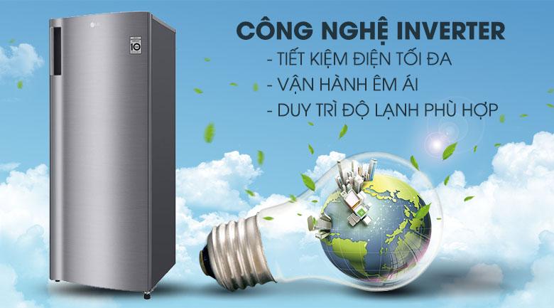 Tủ đông LG 165 lít GN-F304PS - Làm lạnh nhanh, tiết kiệm điện với công nghệ inverter