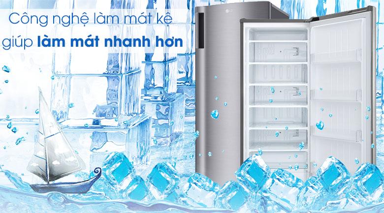 Tủ đông LG 165 lít GN-F304PS - Nhiệt độ lan tỏa đều, nhanh chóng với công nghệ làm mát tủ
