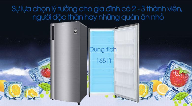 Tủ đông LG 165 lít GN-F304PS - Dung tích 165 lít