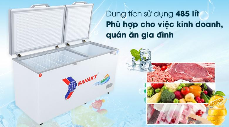 Tủ đông Sanaky 485 lít VH-6699W1 - Dung tích