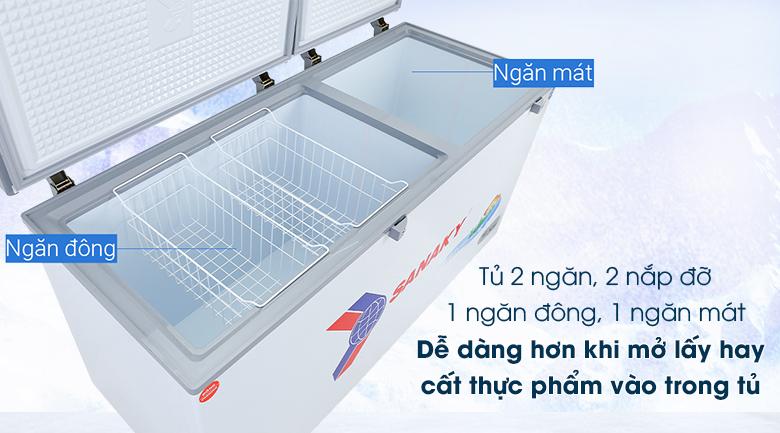 Tủ đông Sanaky 485 lít VH-6699W1 - Thiết kế