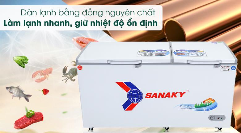 Tủ đông Sanaky 485 lít VH-6699W1 - Dàn đồng