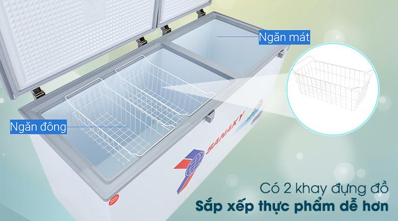 Tủ đông Sanaky 485 lít VH-6699W1 - Khay đựng đồ