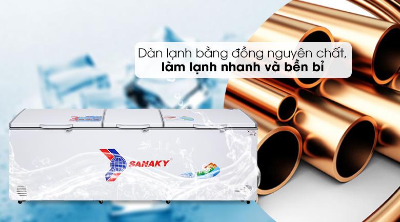 Tủ đông Sanaky 900 lít VH-1199HY - Dàn lạnh đồng