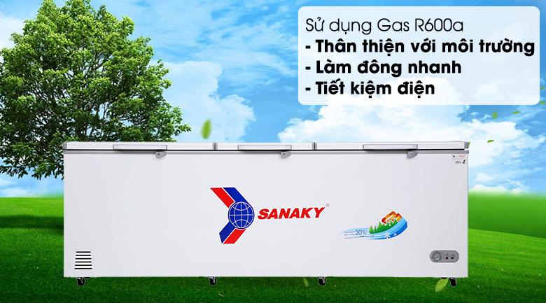 Tủ đông Sanaky 900 lít VH-1199HY - Gas R600a