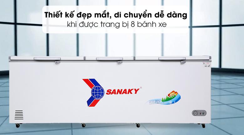 Tủ đông Sanaky 900 lít VH-1199HY - Thiết kế