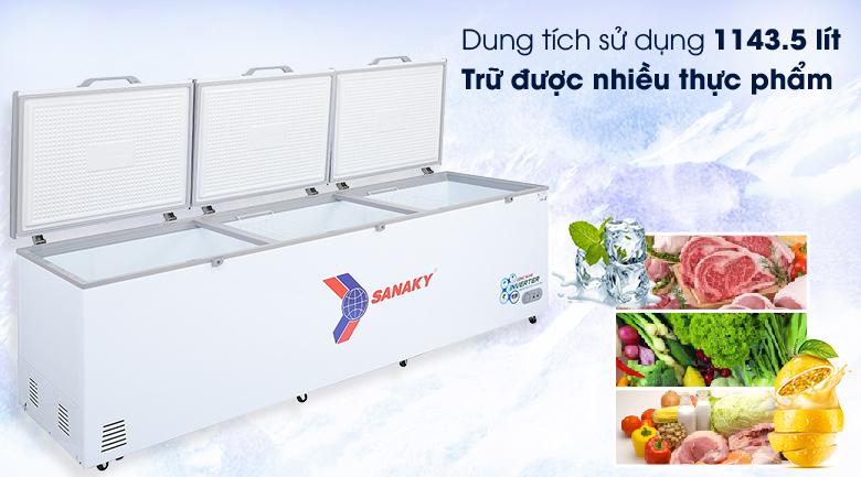 Tủ đông Sanaky 1143.5 lít VH-1399HY3 - Dung tích