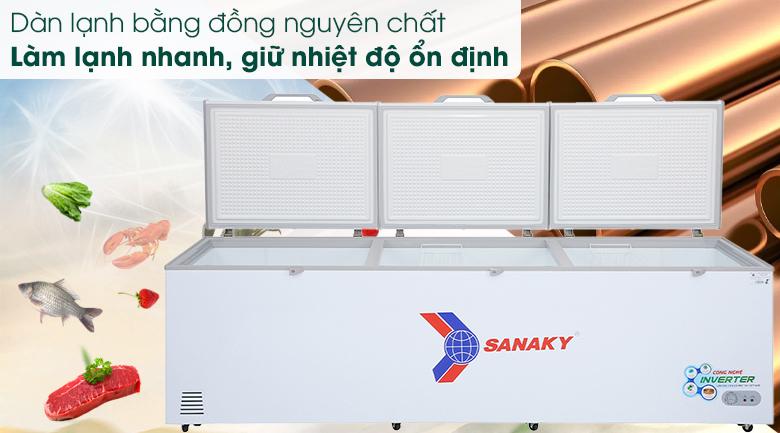 Tủ đông Sanaky 1143.5 lít VH-1399HY3 - Dàn lạnh đồng