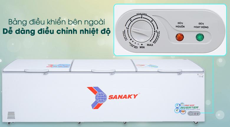 Tủ đông Sanaky 1143.5 lít VH-1399HY3 - Dễ dàng điều chỉnh nhiệt độ
