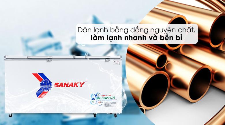 Tủ đông Sanaky 530 lít VH-6699HY3 - Dàn lạnh đồng