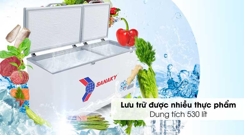 Tủ đông Sanaky 530 lít VH-6699HY3 - Dung tích