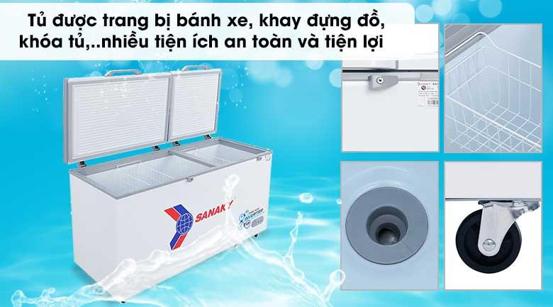 Tủ đông Sanaky 530 lít VH-6699HY3 - Tiện ích